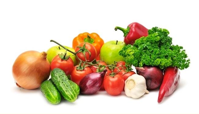 Coma vegetales crudos