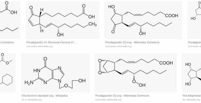 Estructuras de las prostaglandinas