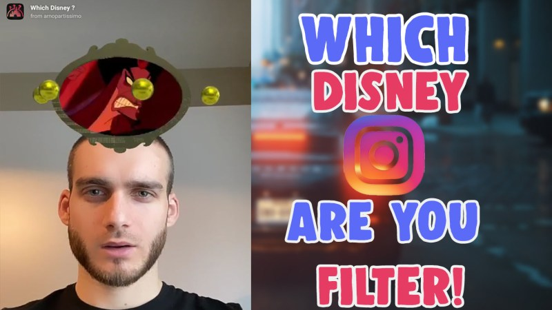 which disney character are you instagram filter