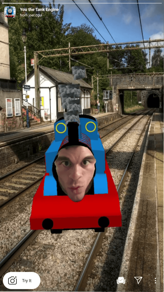 thomas the tank engine filter instagran