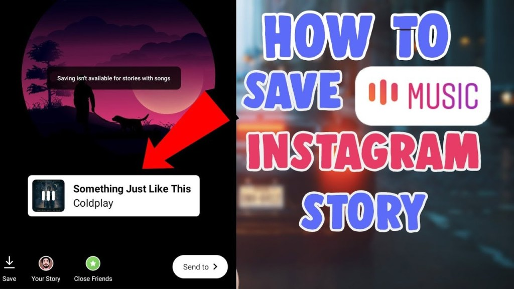 how to save instagram story with music