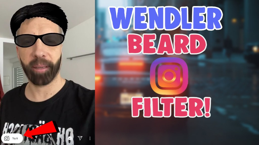 wendler beard filter instagram
