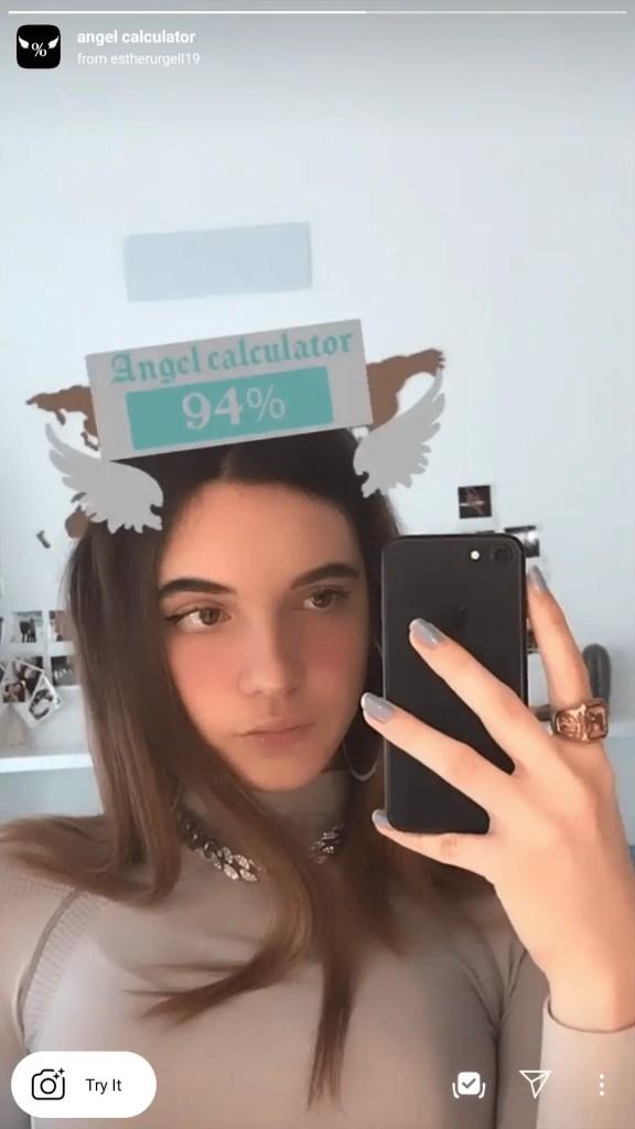 angel calculator instagram filter