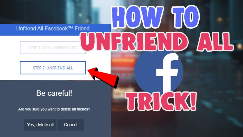 unfriend all facebook friends