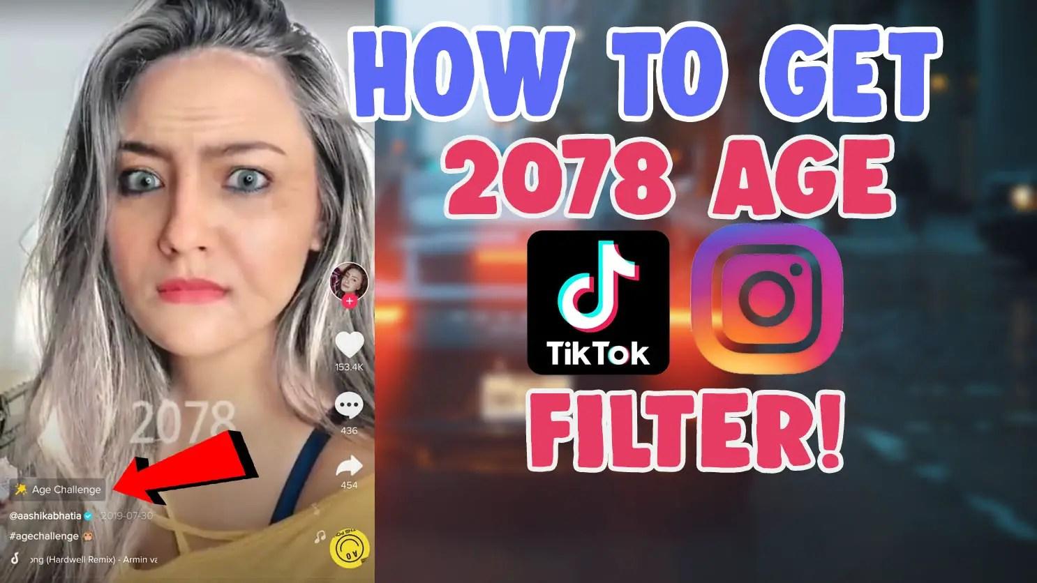 old aging face 2078 filter tiktok instagram snapchat