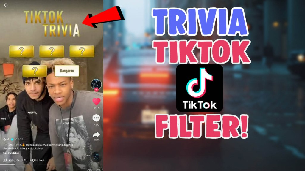 how to get tiktok trivia filter