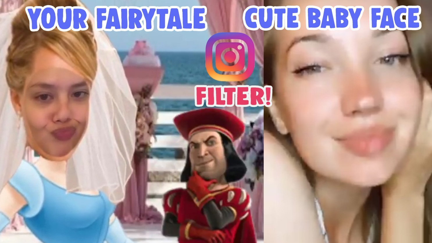cute baby face filter your fairytale filter effect instagram
