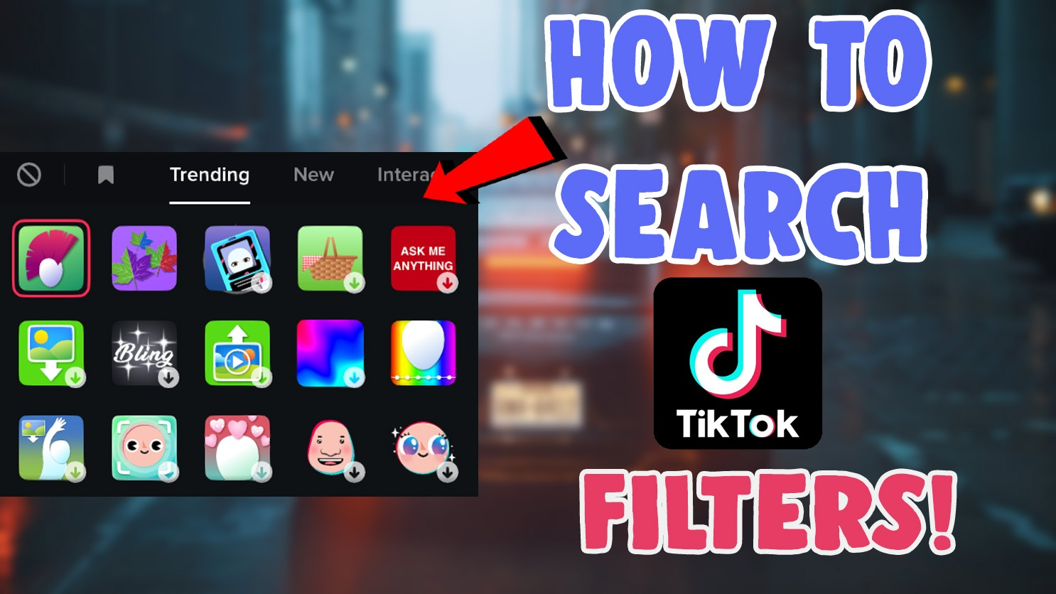 how to search for filter effects tiktok