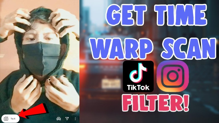 get time warp scan filter tiktok instagram