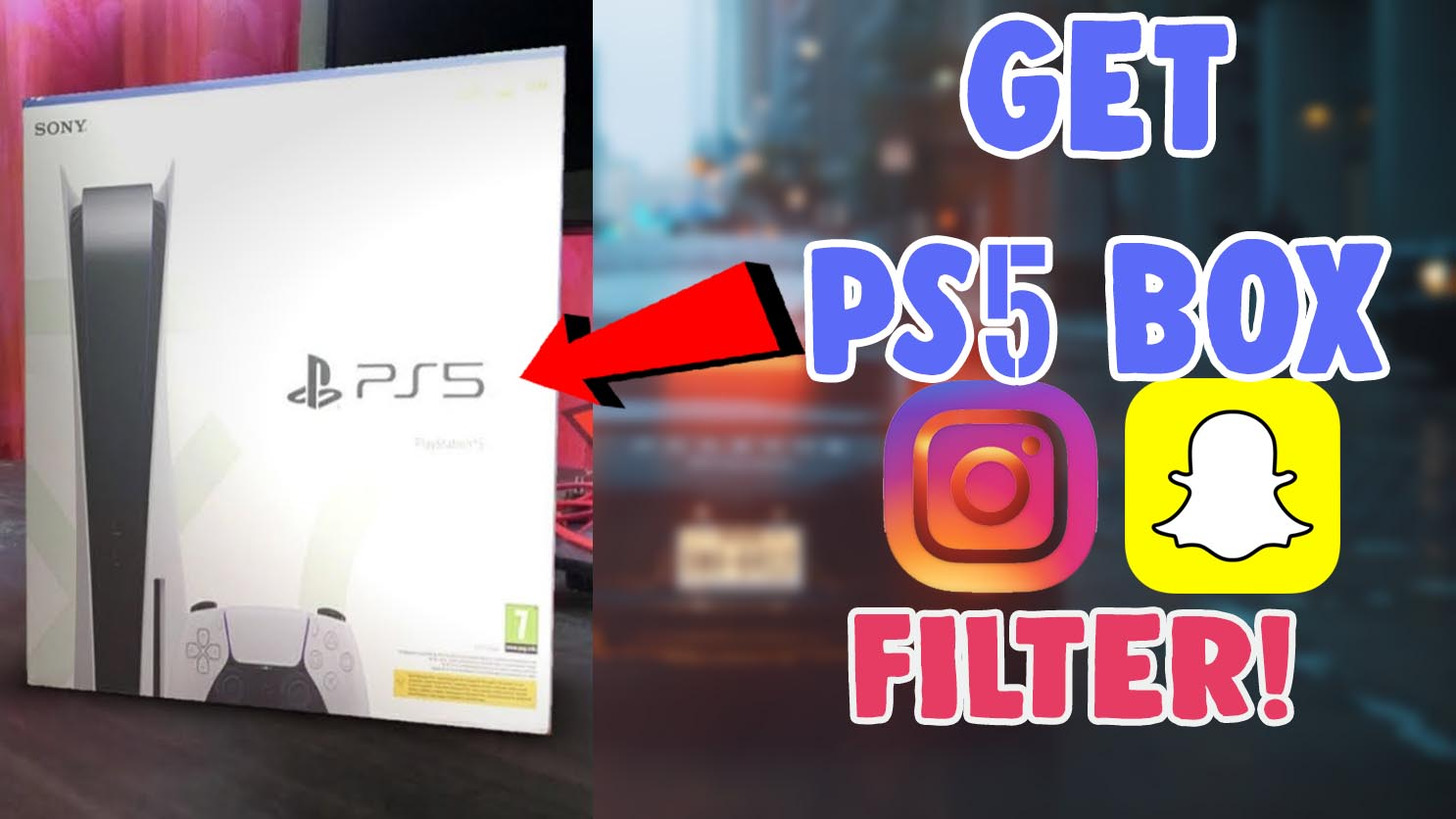 how to get ps 5 box filter on instagram