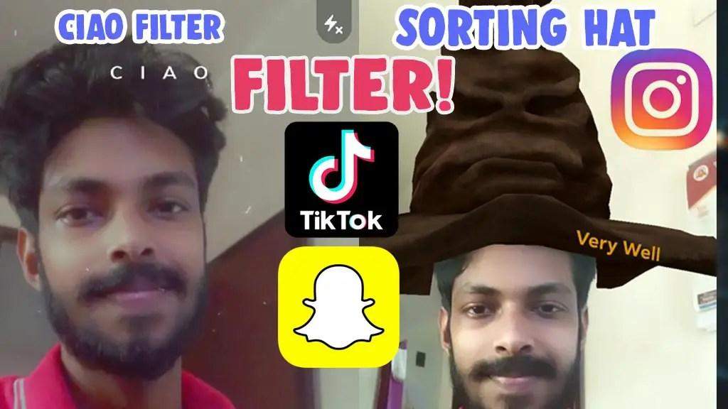 sorting hat filter tiktok snapchat ciao filter