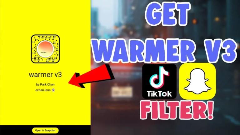 warmer v3 snapchat filter tiktok