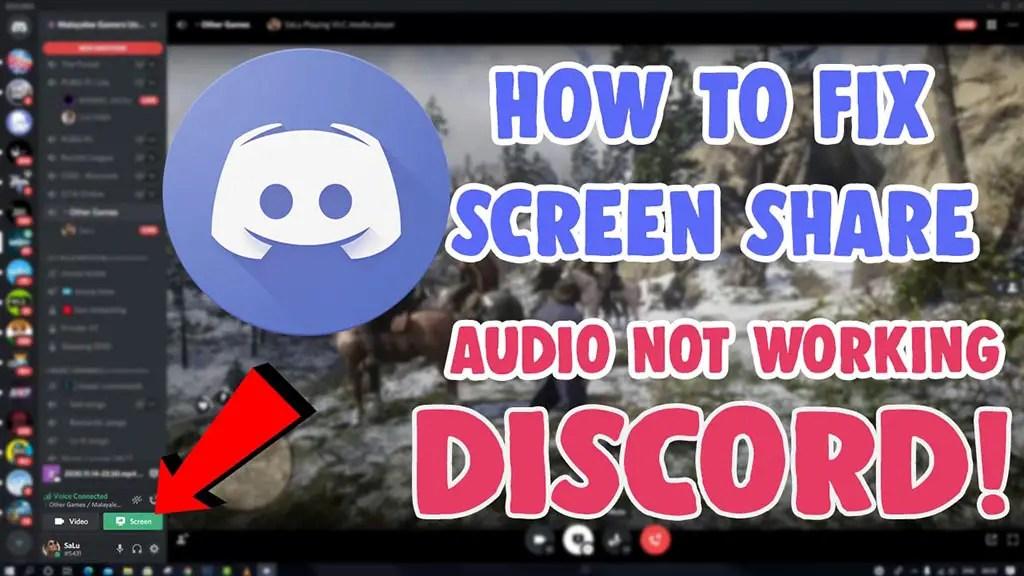 fix discord screen share stream audio not working