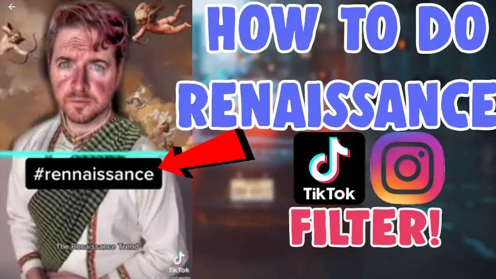 how to do renaissance filter trend instagram tiktok