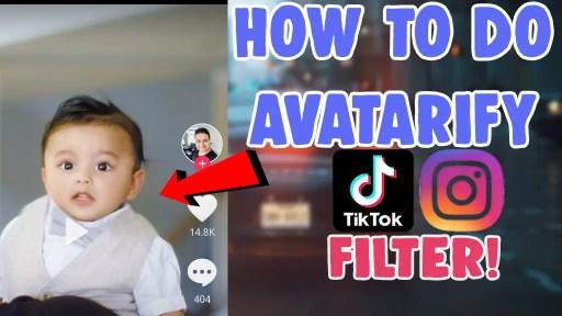 how to do avatarify talking face filter on tiktok