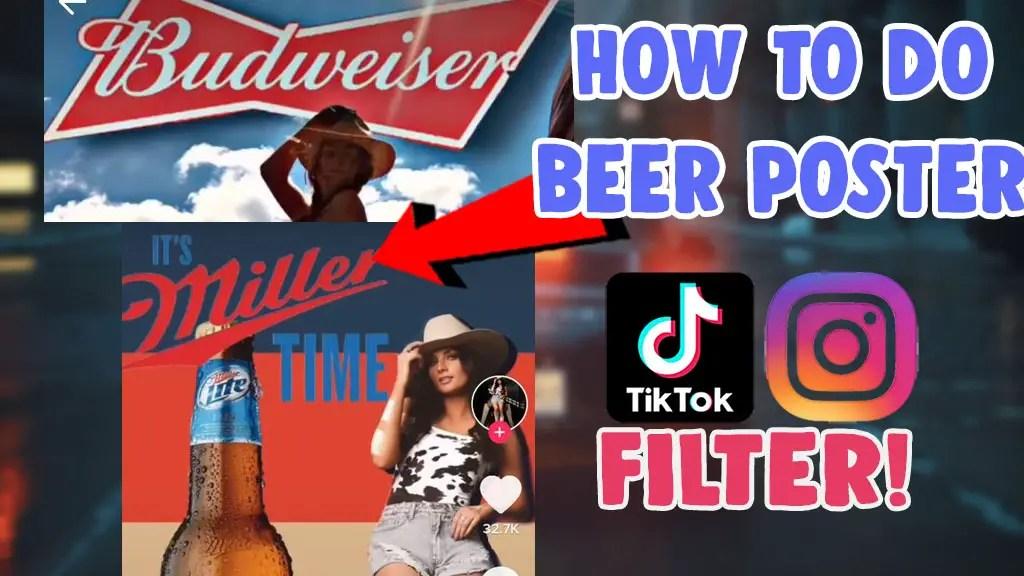 create beer poster challenge video tiktok