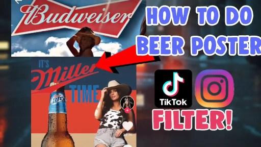 how to create beer poster challenge video tiktok