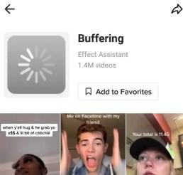 buffering effect filter tiktok icon