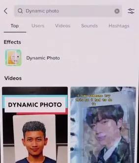 dynamic photo app filter tiktok instagram