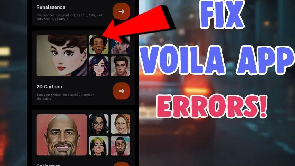fix voila app not working error