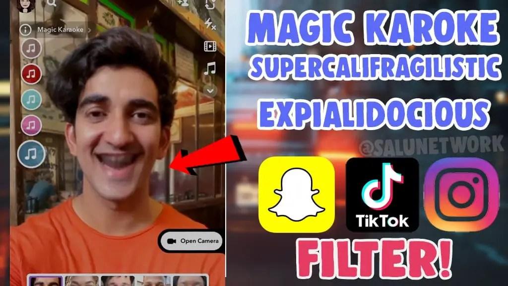 get magic karaoke filter snapchat tiktok