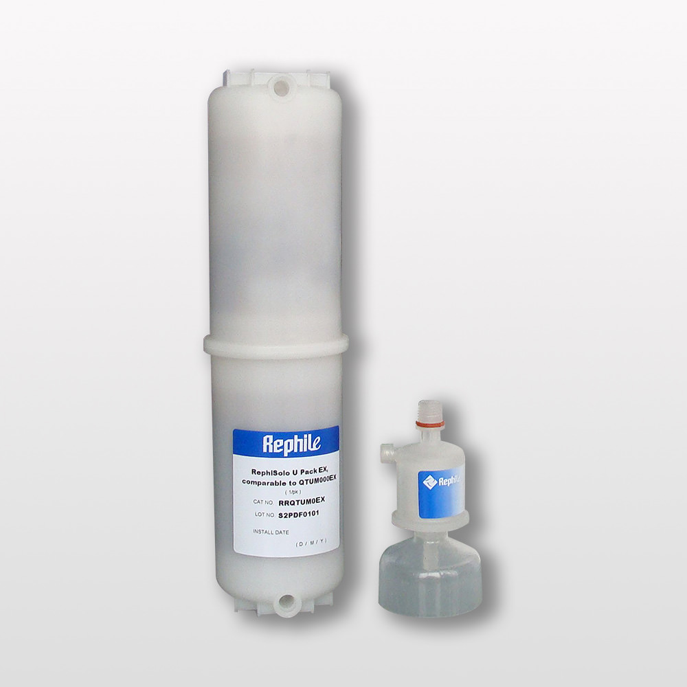 RephiSolo U PACK EX With a 0.2 μm Final Filter, replacing Millipore QTUMMPEEX