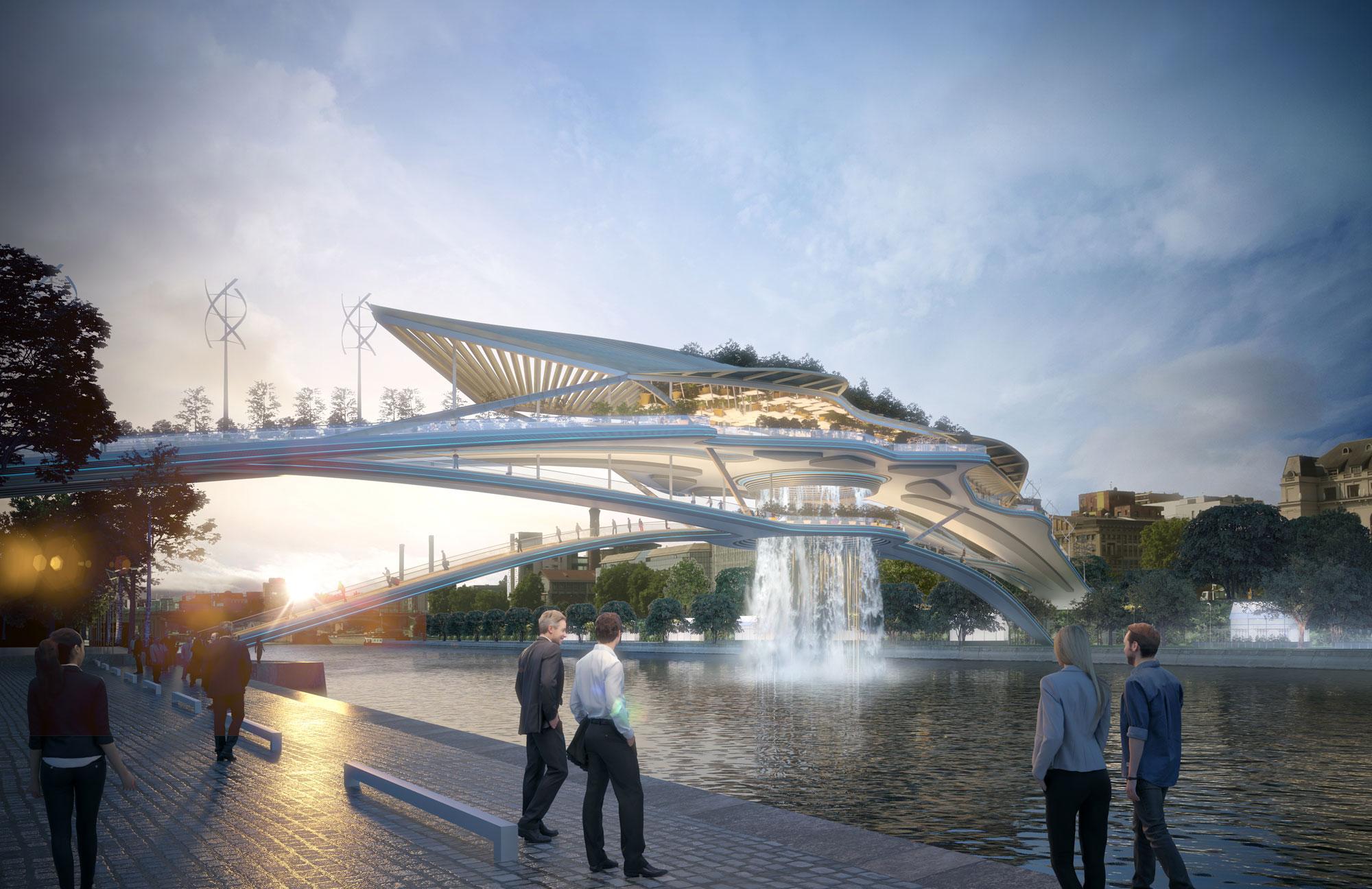 В Париже на Сене построят «Вавилонский мост» с водопадом.
