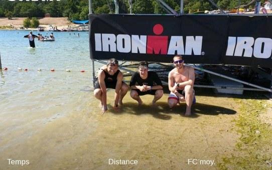 Longer quelques bouées pour accompagner un futur Ironman dans sa dernière nage ! #Swimming #InGoodCompany #IronSwim #BurnByTheSun