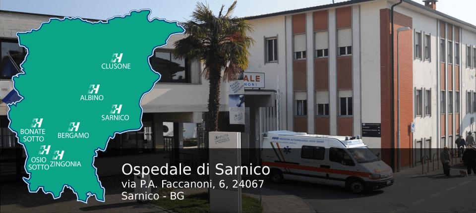 L'ospedale Faccanoni di Sarnico