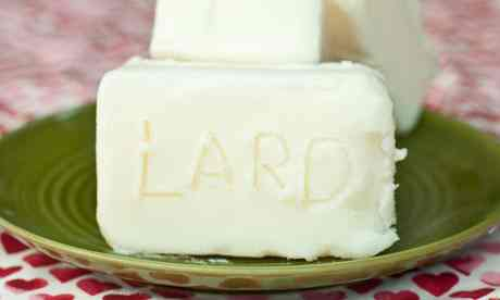 Blocks of lard. Photograph: Antonio Olmos for the Observer