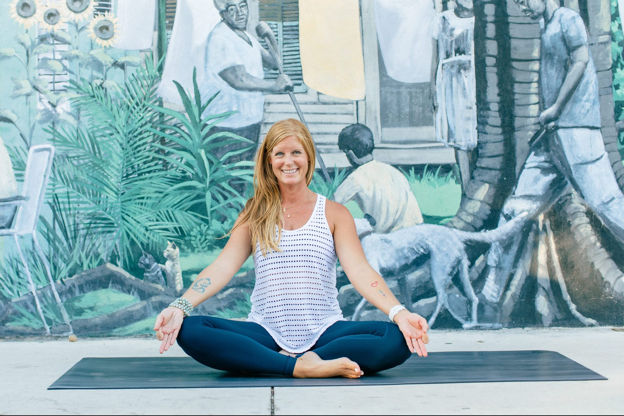 female key west yoga instructor