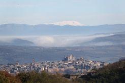 Zicht op Orvieto vanaf Il Secondo Alto PIano