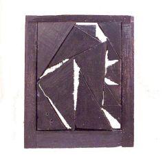 Winter Window~Found Wood,Paint~18x2x2