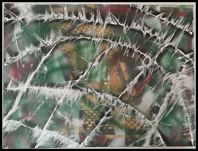 Shingles~Mixed Media on Canvas~18Hx24L