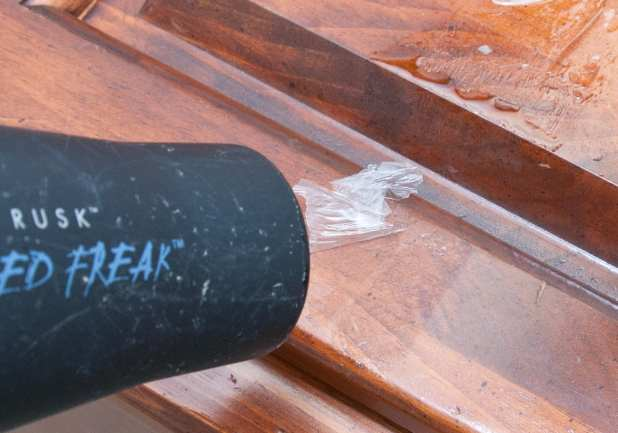 how to get sticky tape residue off wood table. Black Bedroom Furniture Sets. Home Design Ideas