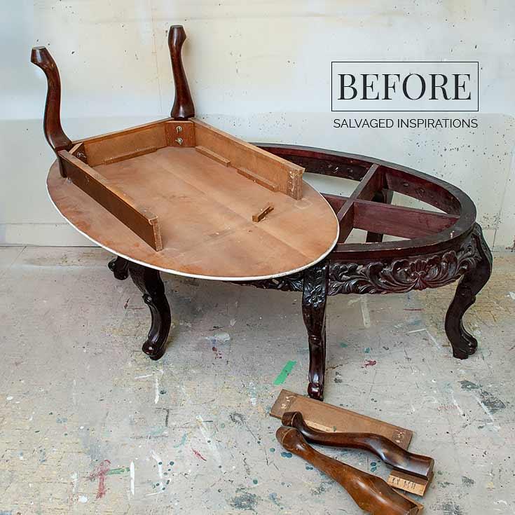 dry brushing furniture salvaged