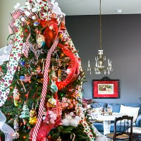 Christmas Bow Tree Topper and Home Tour