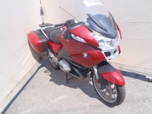Salvage bike on auction.