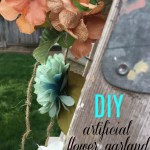 How To Make An Artificial Flower Garland Salvage Sister And Mister