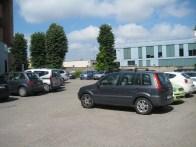 L'area parcheggio adiacente alla Pneumologia