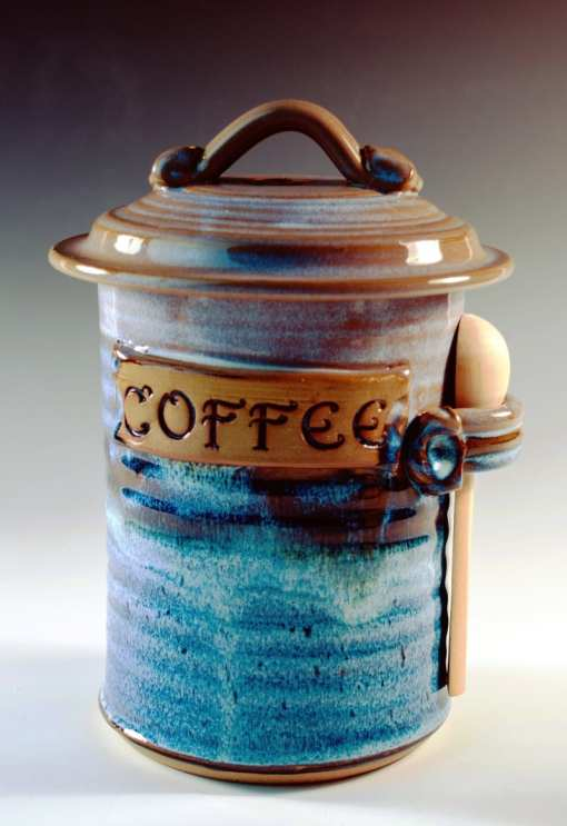 Coffee Canister pottery