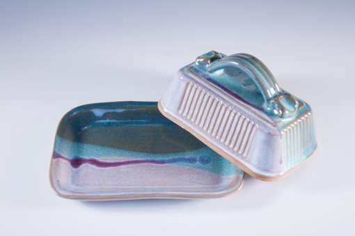 covered butter dish pottery