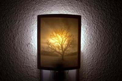 Handmade porcelain night light