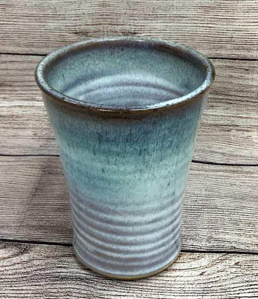 Pottery tumbler blue