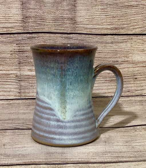 Pottery Mug blue and brown salvaterra