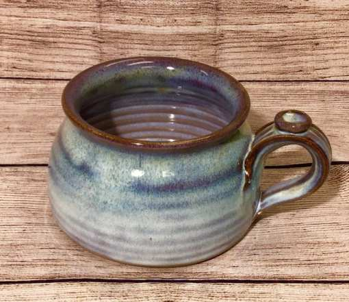 soup mug in Mist by Salvaterra Pottery