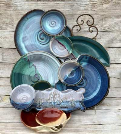 Pieces with Attached Bowls | Chip and Dip Bowls