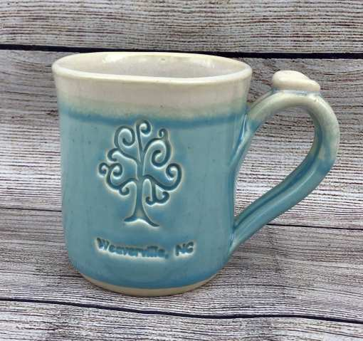 Custom personalized logo blue mug