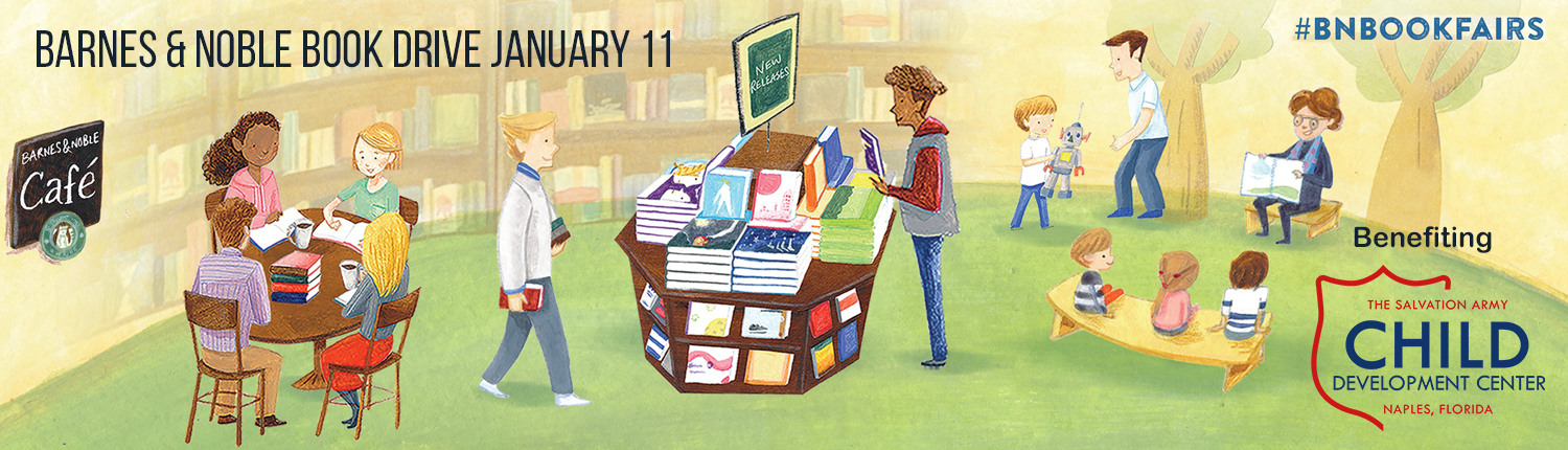 2020 Waterside Shops Barnes & Noble Book Drive banner