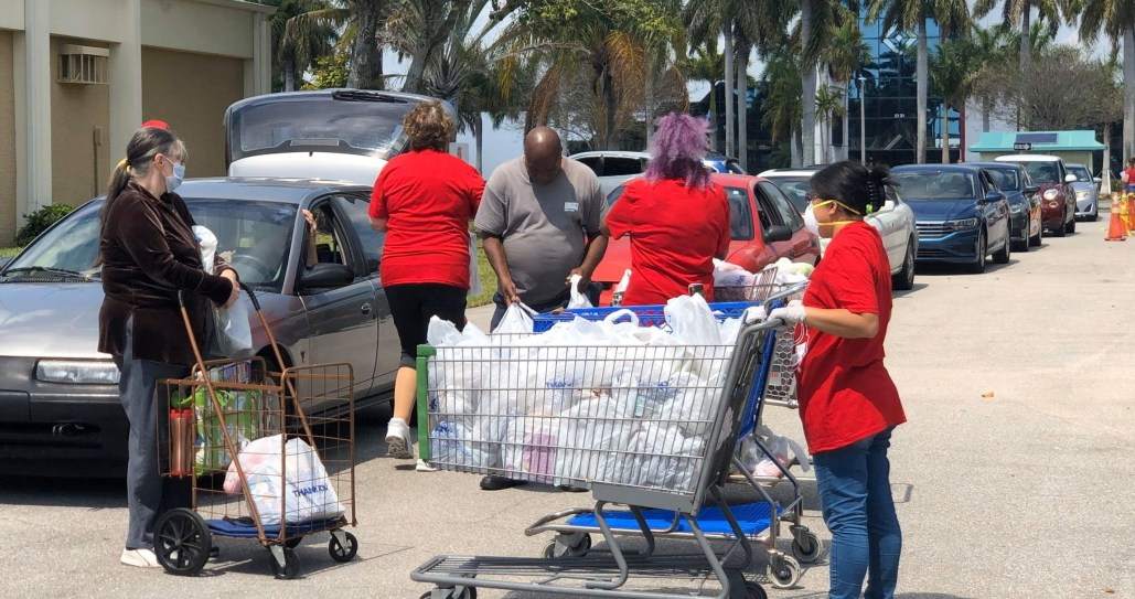 covid relief food distribution palm beach county